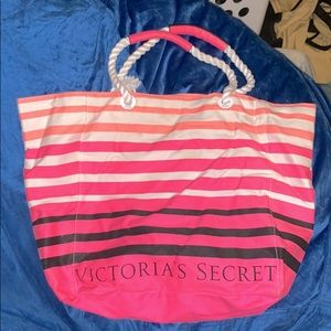 Gently Used Victoria's Secret Striped Tote